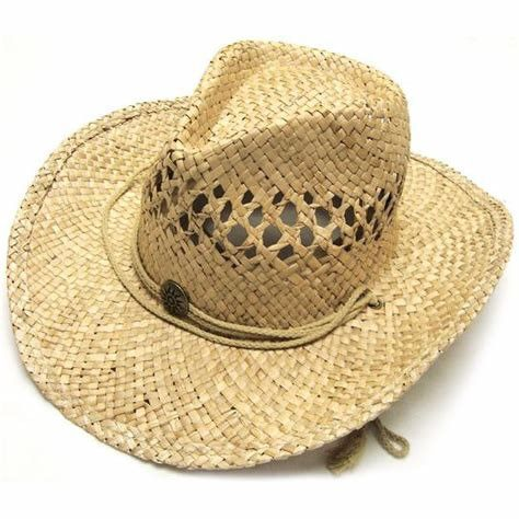 Summer Unisex Woven Straw Cowboy Hats With Fedora Band Outdoor Protecting